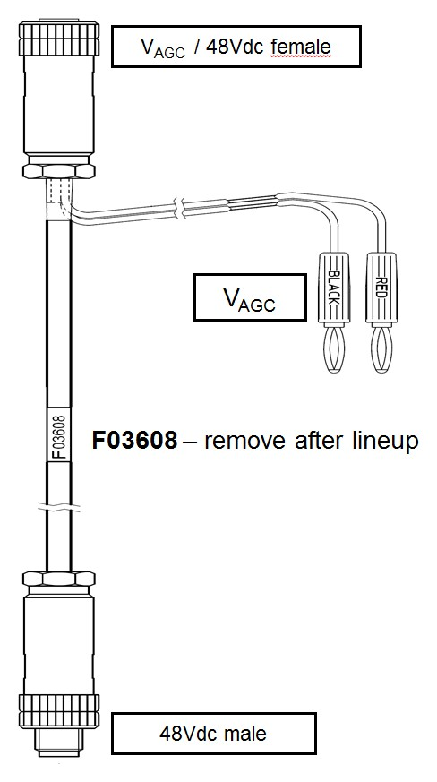 SIAE AUXILIARY CABLE FOR POINTING, MICROWAVE ALIGNMENT