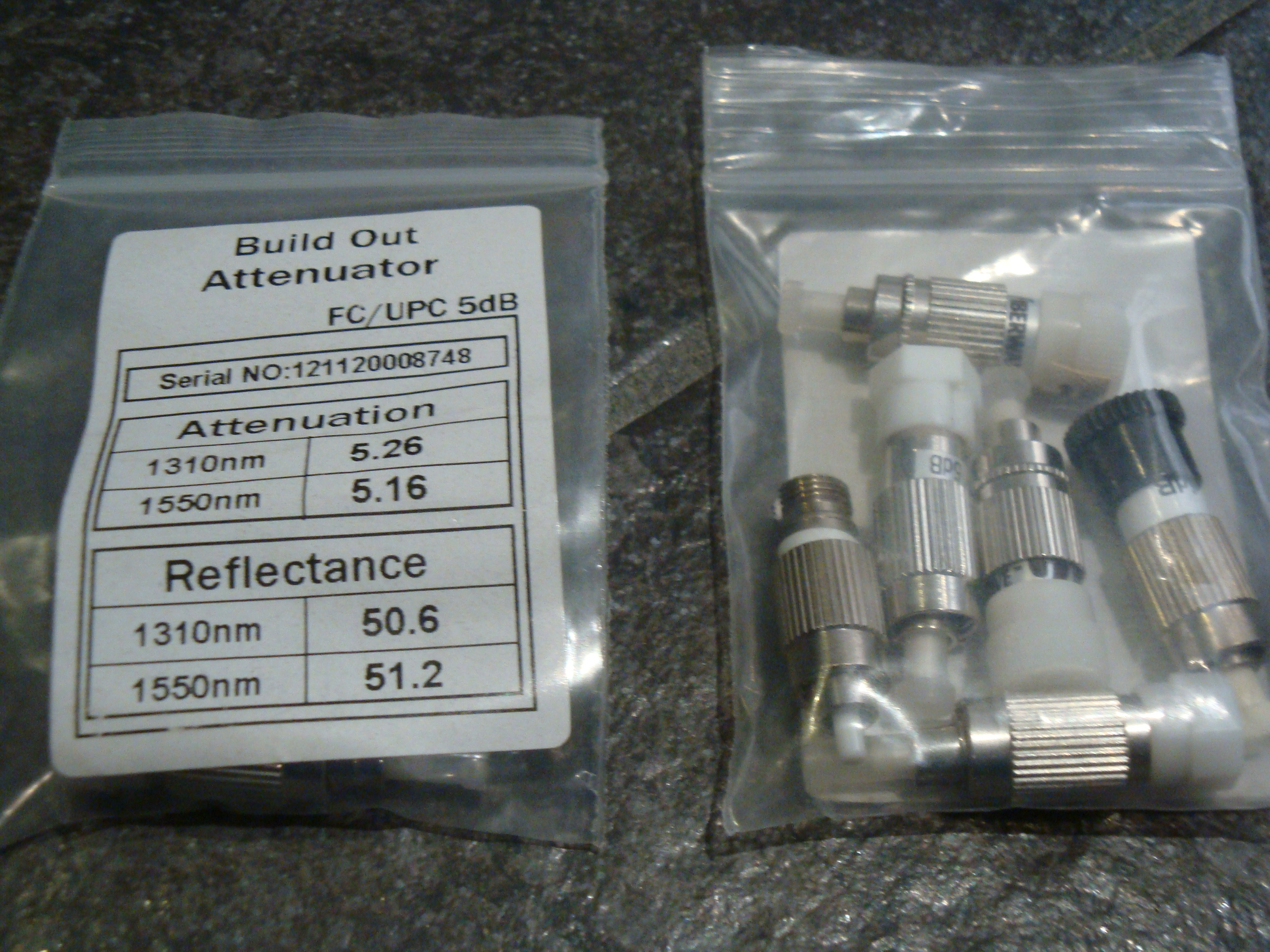 ATTENUATOR FC/UPC 5dB 7pc + 1pc 1dB total 8pcs